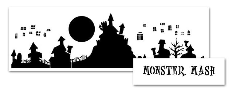 Monster Mash Stencil Set