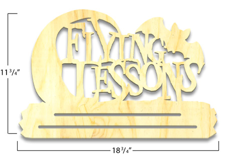 Flying Lessons Banner Topper - Overlay - Large