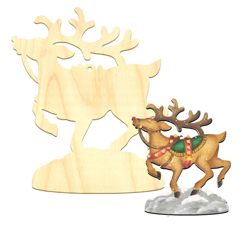 Wood Ornament - Rudolph