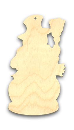 Wood Ornament - Let It Snow Snowman
