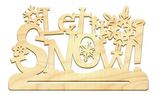 Let It Snow Banner Topper