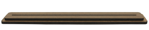 Rounded Rectangle Single Slot Base - 12 inch