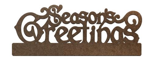 Standing Surface Word - Seasons Greetings Regal Stacked