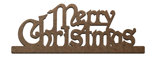 Standing Surface Word - Merry Christmas Regal Stacked
