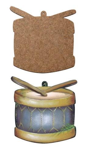 Wood Ornament - Drum
