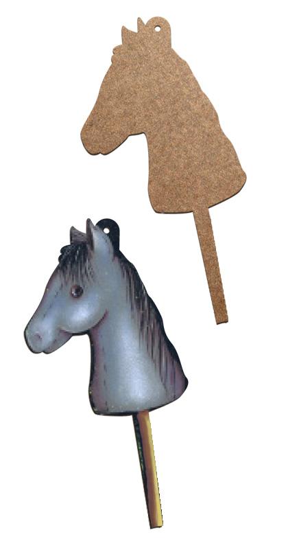 Wood Ornament - Stick Horse