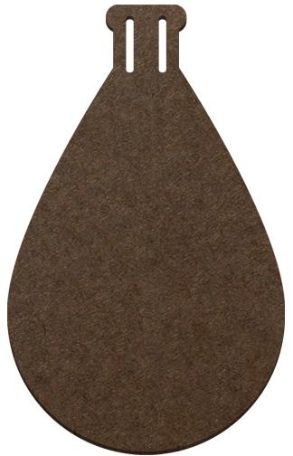 Wood Ornament- Tear Drop