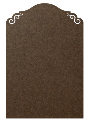 Standing Surface Figure - Colonial Chalkboard