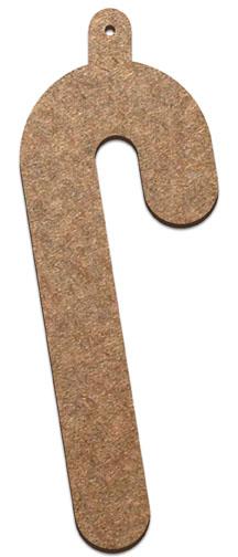 Wood Ornament - Candy Cane