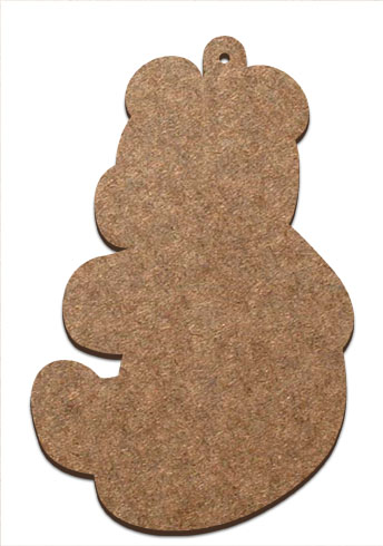 Wood Ornament - Teddy Bear Profile