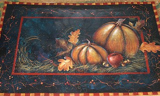 Pumpkin Patch Floor Cloth E-Packet -  Patricia Rawlinson
