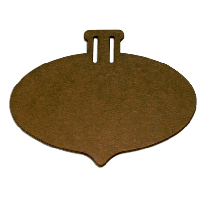 Wood Ornament - Oval Pointed - Small