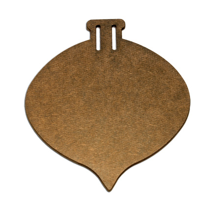 Wood Ornament - Round Pointed - Small