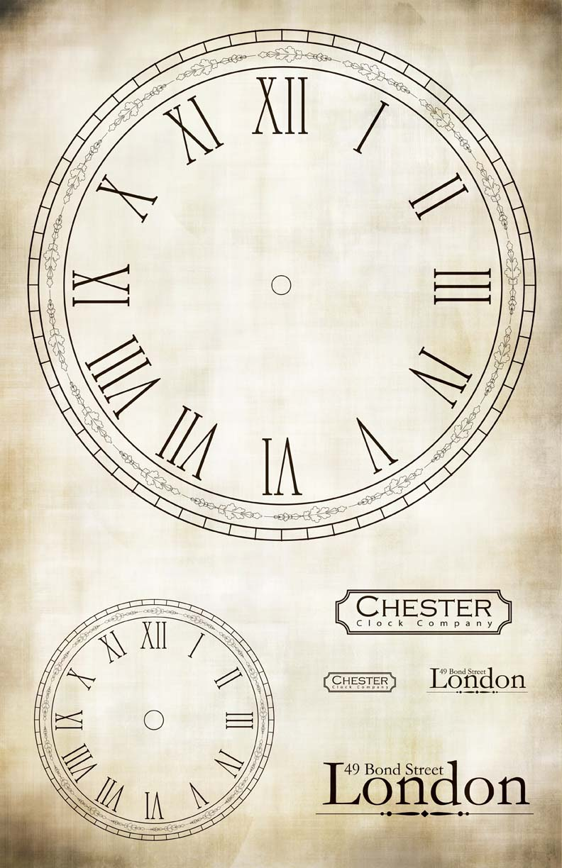 """London Chester Clock Collage Paper - 10 1/2"""" x 16"""""""