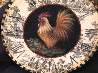Toile Wallpaper Chicken Clock E-Packet - Patricia Rawlinson