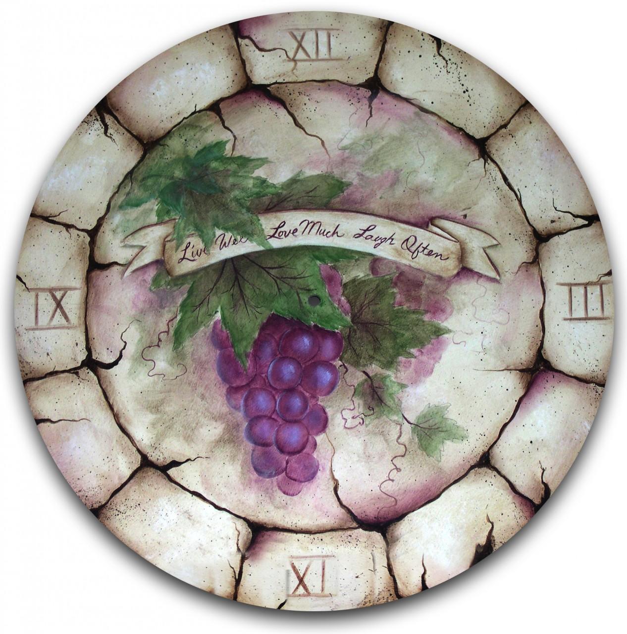 Tuscan Grapes Clock E-Packet - Patricia Rawlinson