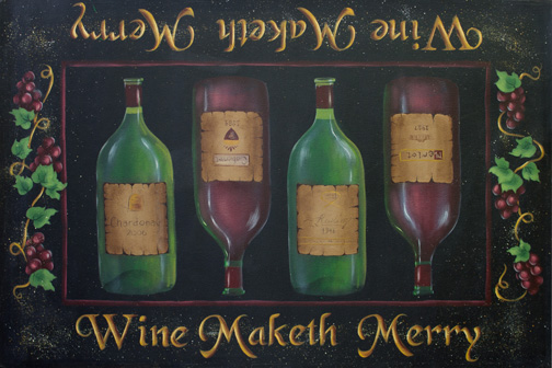 Wine Maketh Merry Floorcloth - E-Packet - Patricia Rawlinson