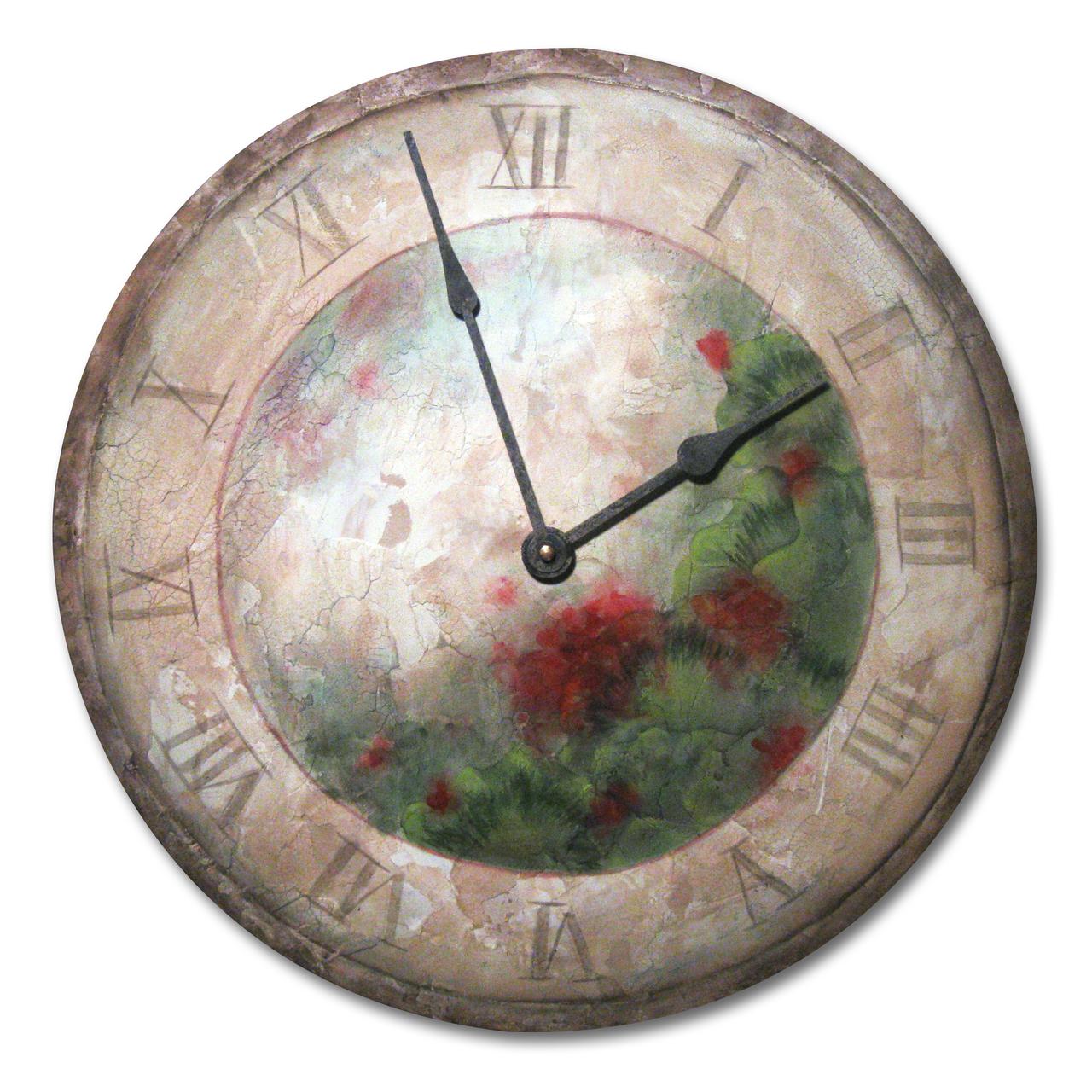 Tuscan Geranium Clock E-Packet - Patricia Rawlinson