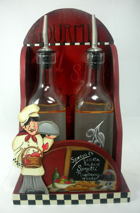 Chef Oil & Vinegar Set - E-Packet - Patricia Rawlinson