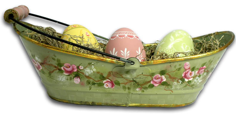 Rose Tin with Eggs E-Packet - Patricia Rawlinson