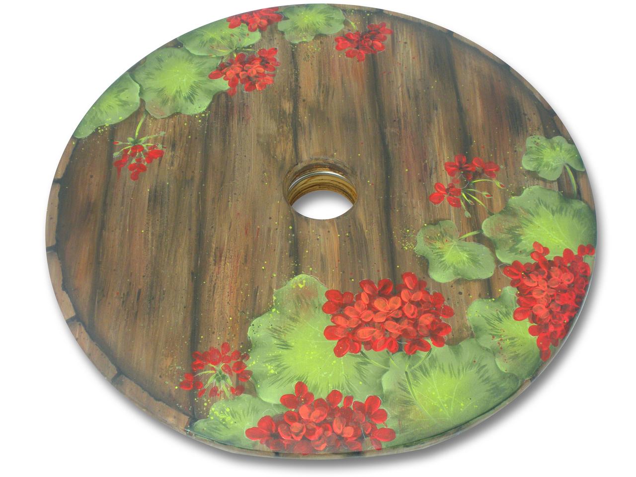 Geraniums Cask Lazy Susan - E-Packet - Patricia Rawlinson