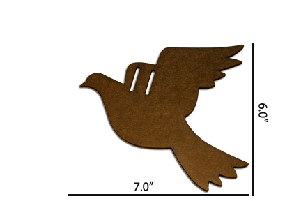 Wood Ornament - Dove
