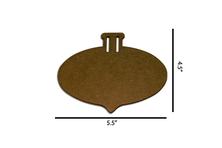 Wood Ornament - Oval Pointed