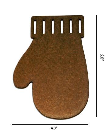 Wood Ornament - Mitten