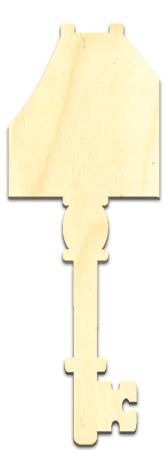 Wood Ornament Key - Cottage