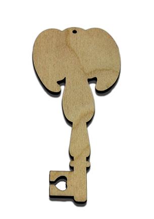 Wood Ornament Key - Angel