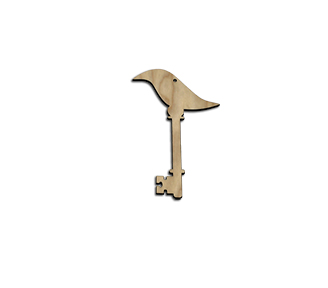 Wood Ornament Key - Bird