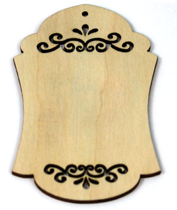 Embellished Wood - Gift Tag