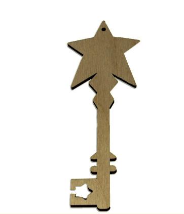 Wood Ornament Key - Star