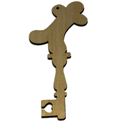 Wood Ornament Key - Gingerbread Man