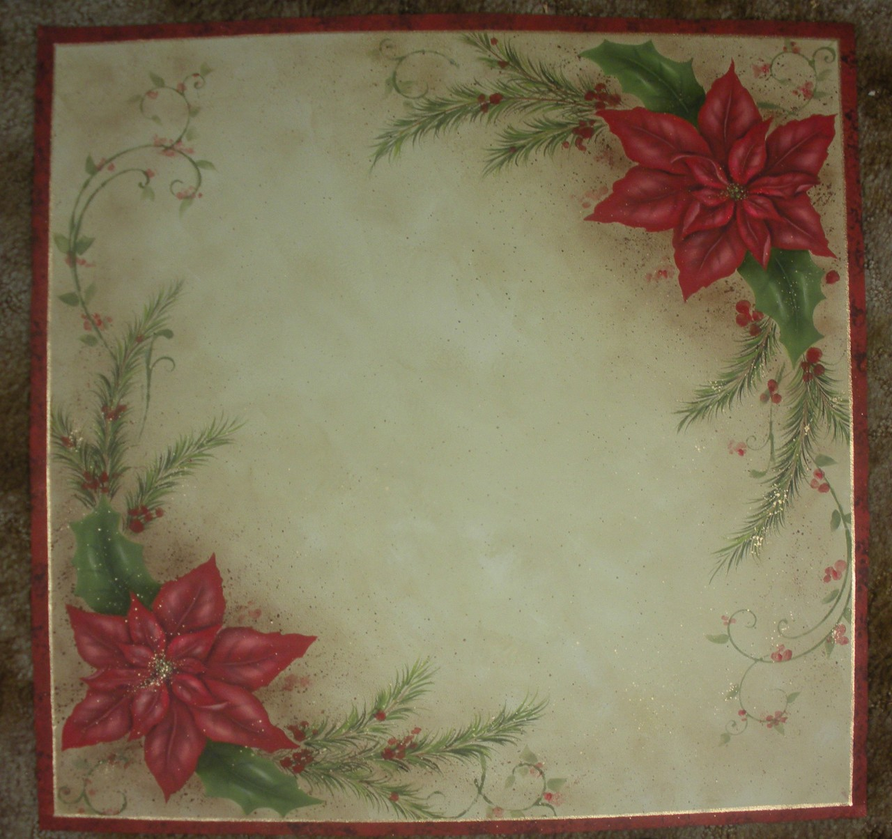 Poinsettia Table Set - E-Packet - Patricia Rawlinson