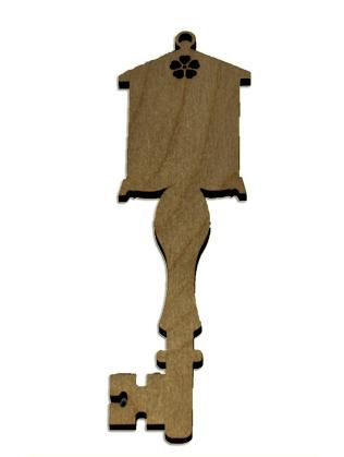 Wood Ornament Key - Simple Birdhouse