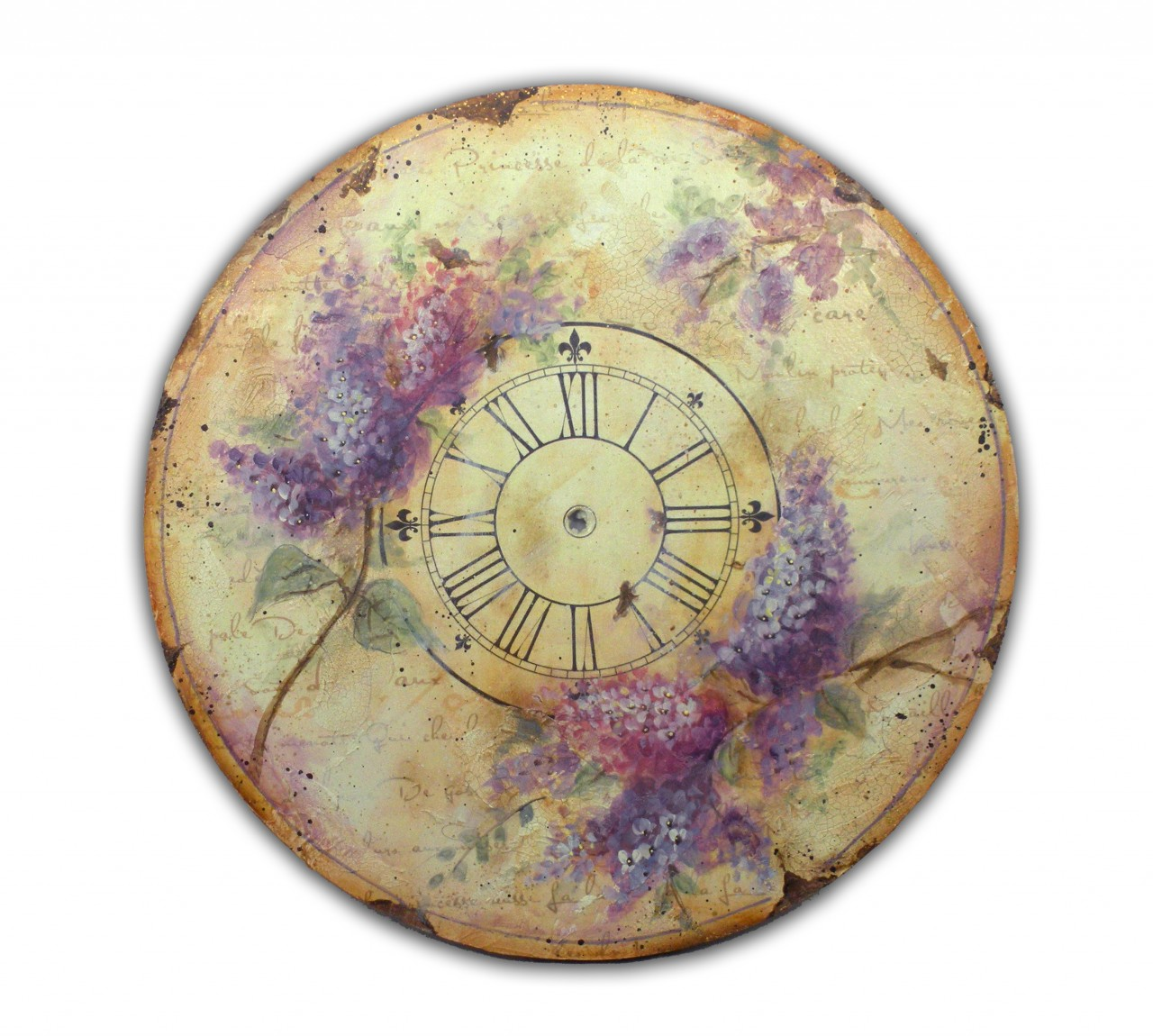Olde World Lilac Clock - E-Packet - Patricia Rawlinson
