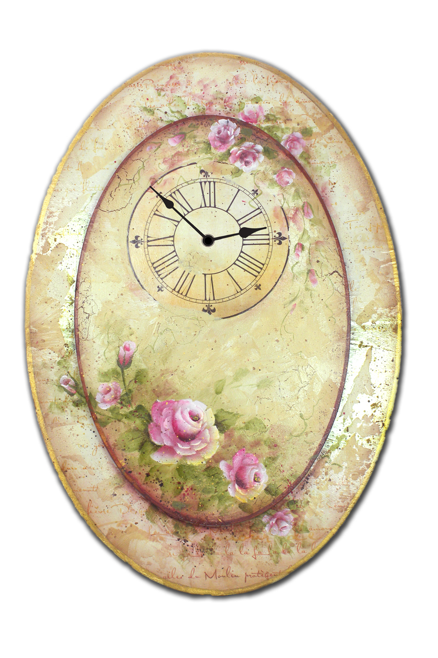 Oval Rose Clock - E-Packet - Patricia Rawlinson