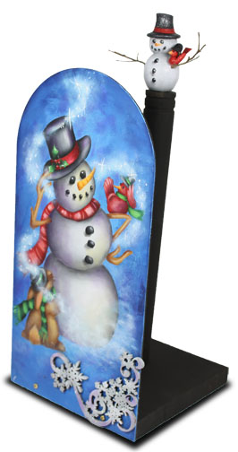 Welcome Winter Arched Paper Towel Holder - E-Packet - Patricia Rawlinson