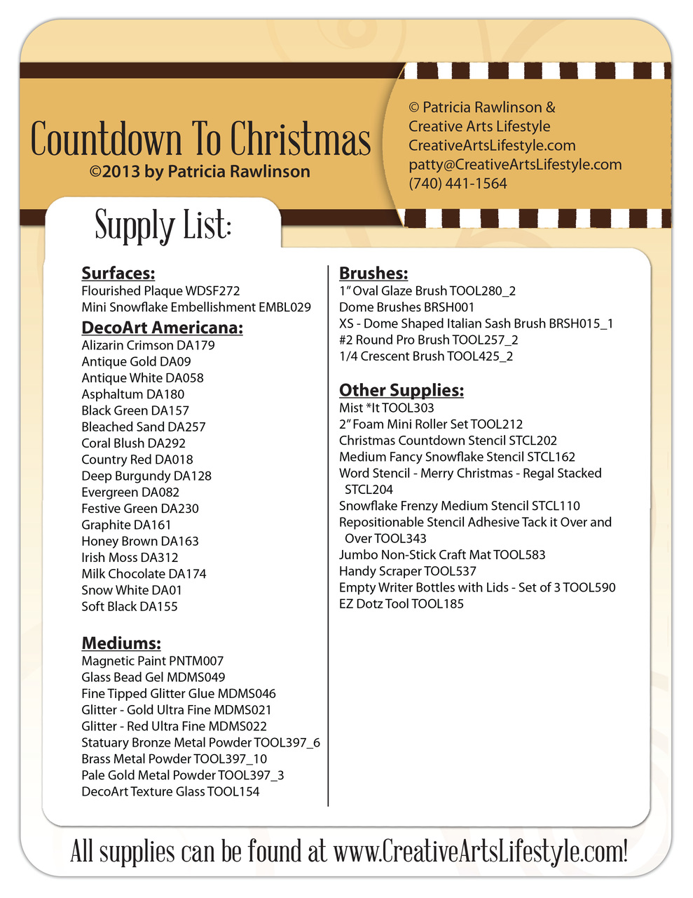 Countdown to Christmas E-Packet - Patricia Rawlinson