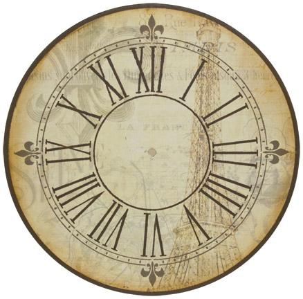 La France Collage Clock E-Packet - Patricia Rawlinson