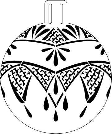 Art Deco Lace Ornament Stencil - 5""