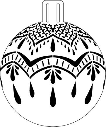 """Fresh Lace Ornament Stencil - 5"""""""