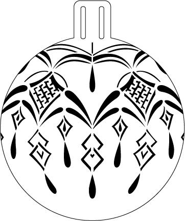 """Heartfelt Lace Ornament Stencil - 5"""""""