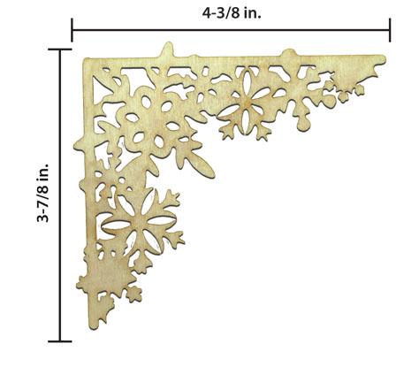 Snowflake Corner - Simple