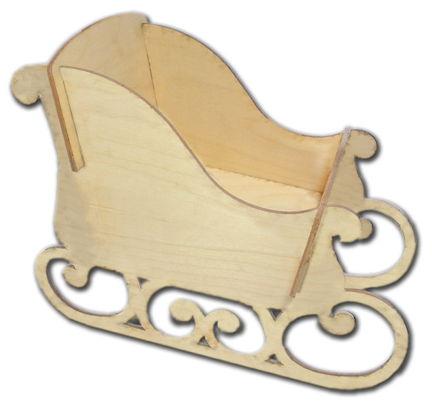 Wooden Sleigh Small
