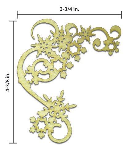 Snowflake Corner - Scroll