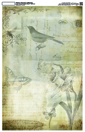 "Nature Journal Collage Paper - Antiqued - 10 1/2"" x 16"""