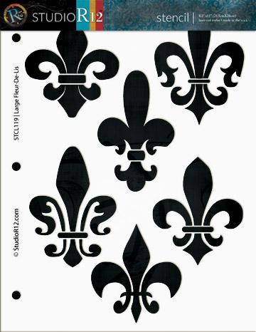 """Large Fleur De Lis Stencil - 8 1/2"""" x 11"""""""