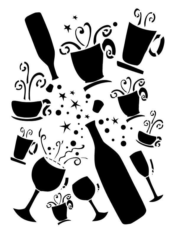 "Diva Cup Full of Magic Stencil - 8 1/2"" x 11"""